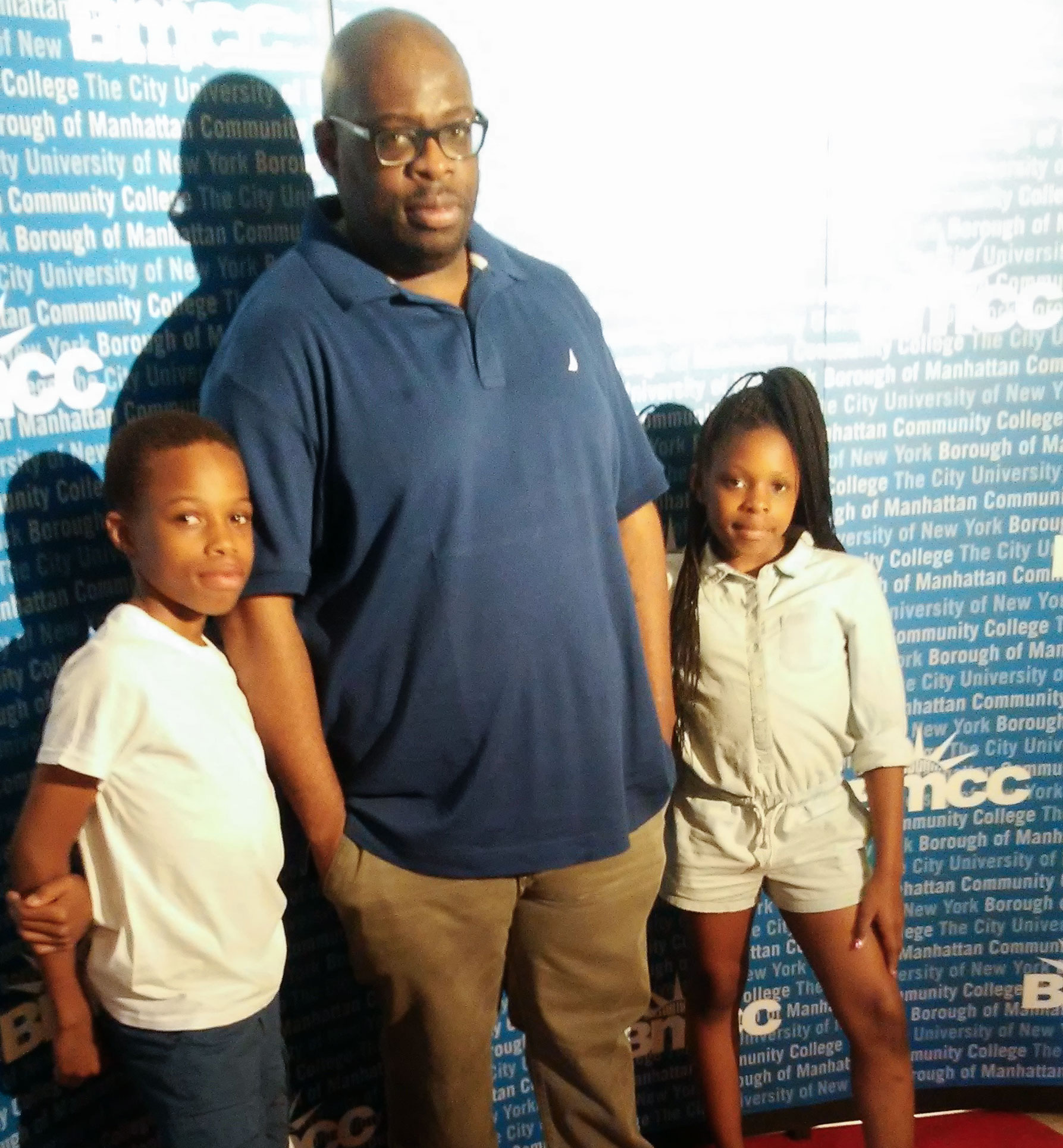Hassan Washington with his children
