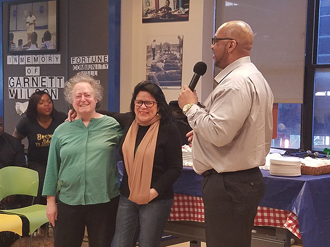 JoAnne Page, Nancy Lopez, and Stanley Richards