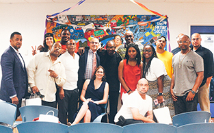 Fortune staff and participants attend a Transitional Work program graduation