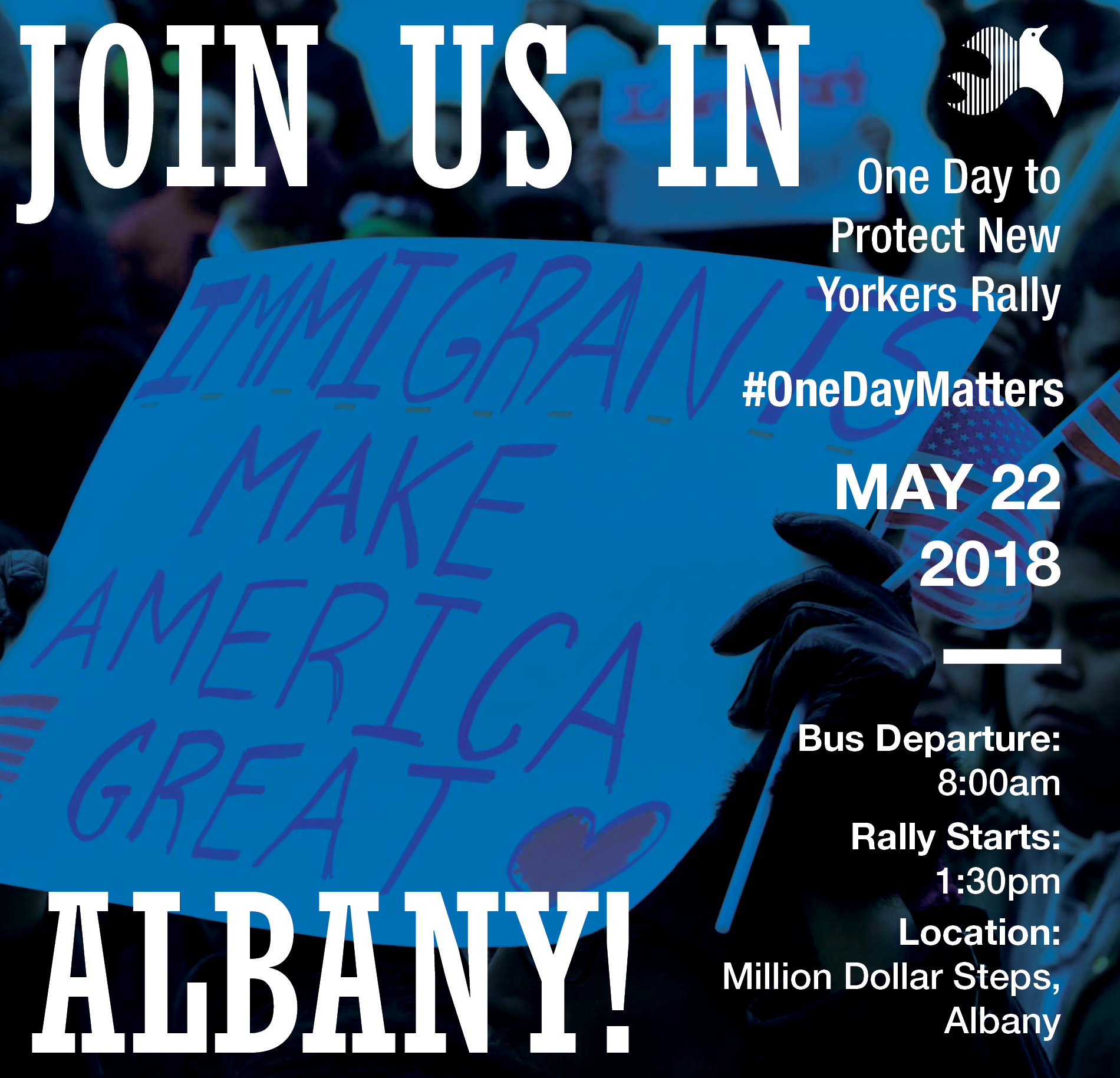 Join Us in Albany on May 22