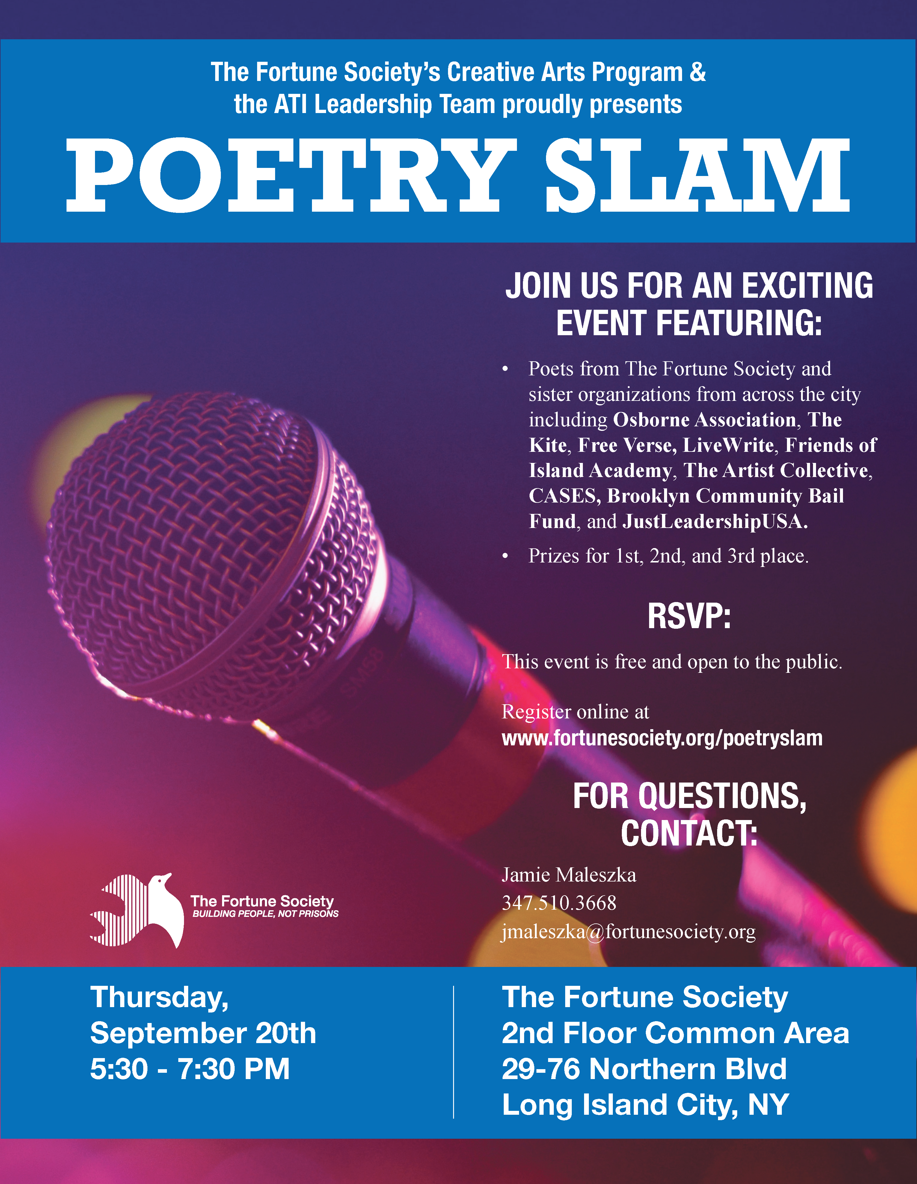 Poetry Slam   The Fortune Society