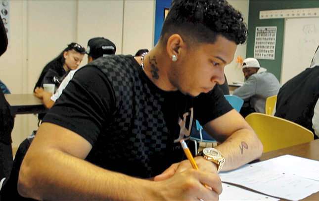 A student who found success in The Fortune Society's Education and Alternatives to Incarceration (ATI) programs