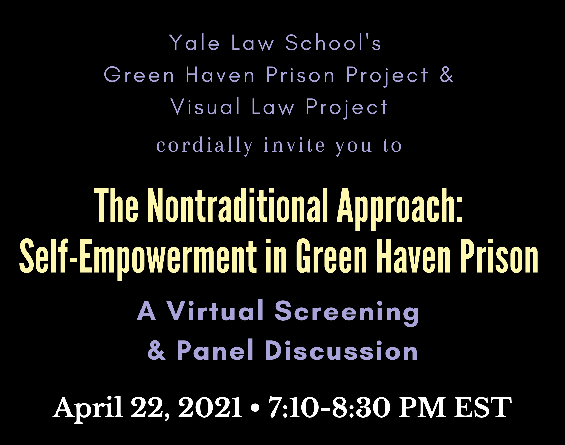 "The Green Haven Prison Project's ""The Nontraditional Approach"""