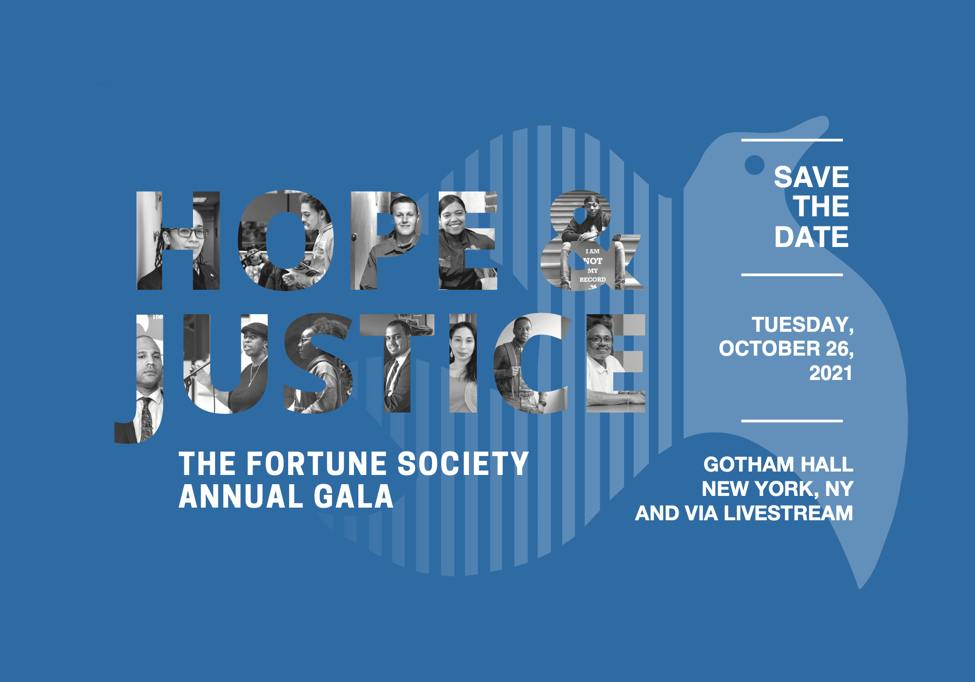 Save the Date for Our 2021 Hope & Justice Gala